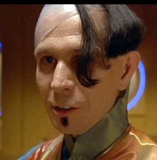 With the mother of all comb-overs as Jean-Baptiste Emanuel Zorg in The Fifth Element (1997)