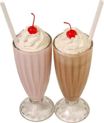 Recipes for a milkshake